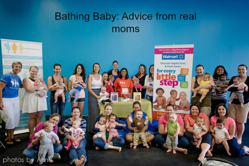 Bathing Baby: Advice from momstown Milton moms