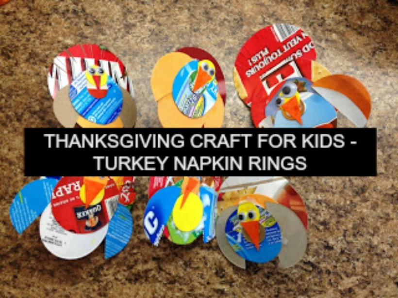 Thanksgiving Crafts for Kids – Turkey Napkin Rings