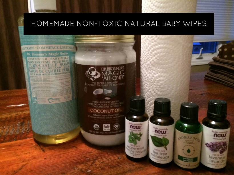 Homemade Non-Toxic Natural Baby Wipes